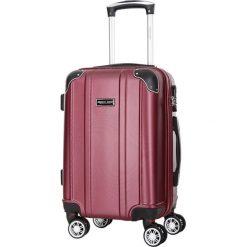 Walizka w kolorze bordowym - 34 l. Czerwone walizki marki Travel One, z materiału. W wyprzedaży za 179,95 zł.