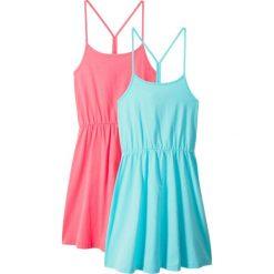 Odzież dziecięca: Sukienka letnia (2 szt. w opak.) bonprix morski + jasnoróżowy