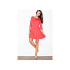 Sukienka M081 Koral. Czerwone sukienki na komunię marki FIGL, m, rozkloszowane. Za 109,00 zł.