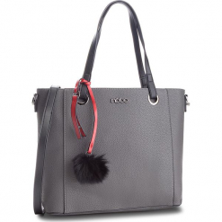 Torebka NOBO - NBAG-F0490-C019 Szary. Szare torebki klasyczne damskie marki Nobo, ze skóry ekologicznej, zdobione. W wyprzedaży za 159,00 zł.
