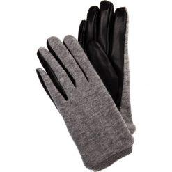 Szare rękawiczki ze skórzanym wnętrzem QUIOSQUE. Szare rękawiczki damskie QUIOSQUE, z materiału. Za 59,99 zł.