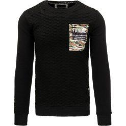 Bluzy męskie: Bluza męska czarna (bx2224)