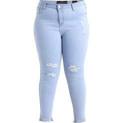 City Chic ICE QUEEN Jeans Skinny Fit light denim. Niebieskie jeansy damskie City Chic, z bawełny. Za 379,00 zł.