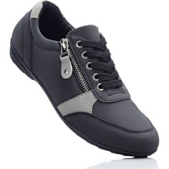 Wygodne buty sznurowane z pianką YouFoam bonprix czarno-szary. Szare buty sportowe damskie marki bonprix, z materiału. Za 109,99 zł.