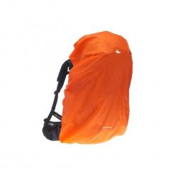 Pokrowiec przeciwdeszczowy na plecak o dużej pojemności. Brązowe plecaki męskie marki FORCLAZ, z materiału. Za 39,99 zł.