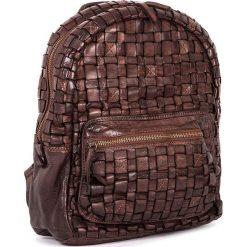 Plecaki damskie: Skórzany plecak w kolorze brązowym – 26 x 33 x 13 cm