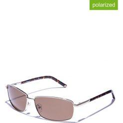 Okulary przeciwsłoneczne męskie lustrzane: Okulary męskie w kolorze złoto-brązowym