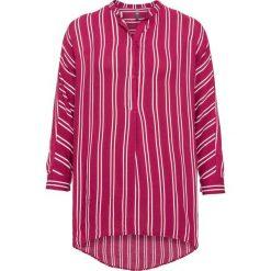 Bluzki damskie: Długa  bluzka bonprix czerwono-biały w paski