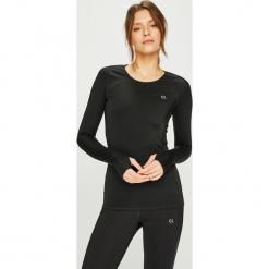 Calvin Klein Performance - Bluzka. Czarne bluzki damskie Calvin Klein Performance, l, z elastanu, z okrągłym kołnierzem. Za 299,90 zł.