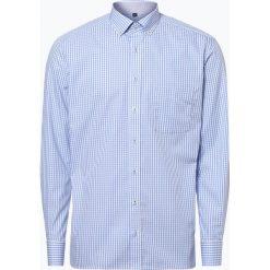 Koszule męskie na spinki: Eterna Modern Fit - Koszula męska niewymagająca prasowania, niebieski