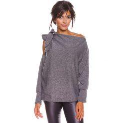 """Sweter """"Pia"""" w kolorze szarym. Szare swetry klasyczne damskie marki 100% Maille, s, z dekoltem w łódkę. W wyprzedaży za 129,95 zł."""