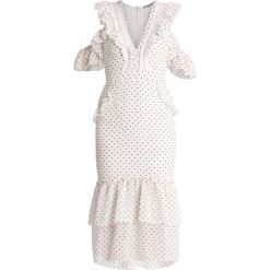 Długie sukienki: Hope & Ivy Tall POLKA TEA DRESS Długa sukienka white