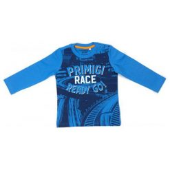 Primigi T-Shirt Chłopięcy 86 Niebieski. Niebieskie t-shirty chłopięce Primigi. W wyprzedaży za 39,00 zł.