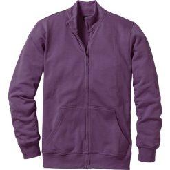 Bluza rozpinana bonprix jagodowy. Fioletowe bejsbolówki męskie bonprix, l, z dresówki. Za 44,99 zł.