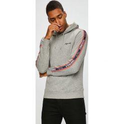 Jack & Jones - Bluza. Czarne bluzy męskie rozpinane marki Jack & Jones, l, z bawełny, z klasycznym kołnierzykiem, z długim rękawem. W wyprzedaży za 129,90 zł.