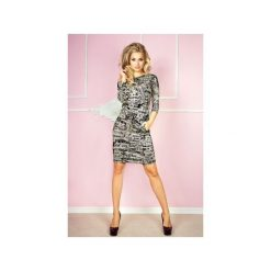 Sukienki: SUKIENKA SPORTOWA CASUAL GAZETA GRAFIT