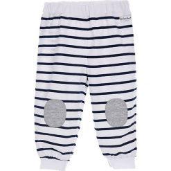 Spodnie niemowlęce: Spodnie w kolorze biało-granatowym