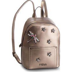 Plecak NOBO - NBAG-F1430-C025 Złoty. Żółte plecaki damskie Nobo, ze skóry ekologicznej. W wyprzedaży za 179,00 zł.