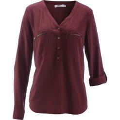 Bluzka z wiskozy, długi rękaw bonprix czerwony klon. Czerwone bluzki longsleeves bonprix, z wiskozy. Za 74,99 zł.