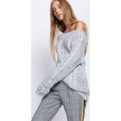 Swetry klasyczne damskie: Szary Sweter No Suffer