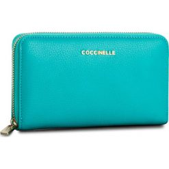 Portfele damskie: Duży Portfel Damski COCCINELLE – BW5 Metallic Soft E2 BW5 11 32 01 Turquoise 028