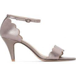 Rzymianki damskie: Sandały skórzane wykończone ząbkowaniem