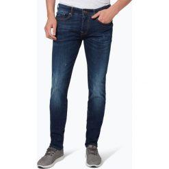 Guess Jeans - Jeansy męskie – Bump, niebieski. Szare jeansy męskie z dziurami marki Guess Jeans, l, z aplikacjami, z bawełny. Za 349,95 zł.