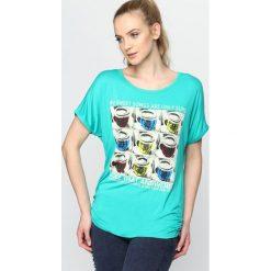 Bluzki damskie: Zielony T-shirt Fun And Games