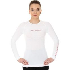 Bluzki sportowe damskie: Brubeck Koszulka damska 3D Run PRO z długim rękawem biała r. L (LS13140)
