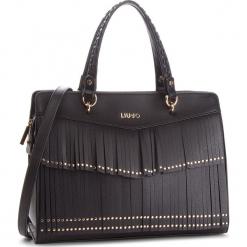 Torebka LIU JO - M Satchel Brera N68195 E0031 Nero 22222. Czarne torebki klasyczne damskie marki Liu Jo, z materiału. Za 739,00 zł.
