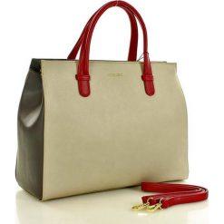 MONNARI Elegancka torebka aktówka beżowa. Brązowe kuferki damskie Monnari, w paski, ze skóry, duże. Za 179,00 zł.