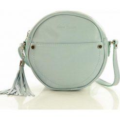 Torebka skórzana round bag marco mazzini - brunella. Białe kuferki damskie Verostilo, w geometryczne wzory, ze skóry, na ramię. Za 160,00 zł.