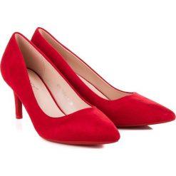 Buty ślubne damskie: CZÓŁENKA DAMSKIE NA OBCASIE MILAYA odcienie czerwieni