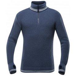 Devold Sweter Randers Zip Neck Night/Offwhite Xl. Brązowe swetry klasyczne męskie Devold, m, z dzianiny, z klasycznym kołnierzykiem. Za 495,00 zł.