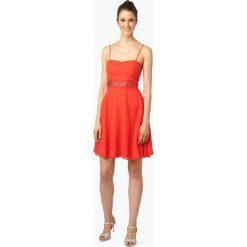 Suddenly Princess - Damska sukienka koktajlowa, czerwony. Czerwone sukienki hiszpanki Suddenly Princess, z szyfonu, dopasowane. Za 399,95 zł.