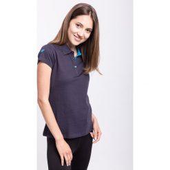 Koszulka polo damska TSD050z - granatowy - 4F. Niebieskie bluzki sportowe damskie 4f, na jesień, xs, z bawełny. Za 49,99 zł.