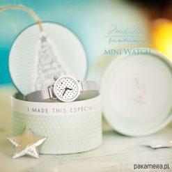 Prezent - mini Zegarek - Love Dots - Makaliboo. Szare zegarki damskie Pakamera, szklane. Za 99,00 zł.