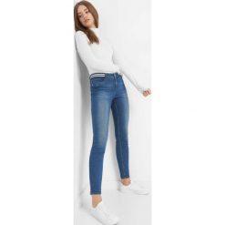 Jeansy skinny z paskiem. Brązowe jeansy damskie marki Orsay, s, z dzianiny. Za 79,99 zł.
