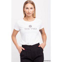 T-shirt THE TWO. Niebieskie t-shirty damskie marki Pakamera, z bawełny. Za 70,00 zł.