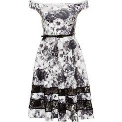 Sukienki: Sukienka w kwiaty bonprix czarno-biały