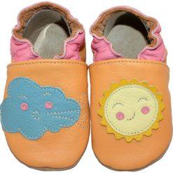 Buciki niemowlęce chłopięce: SKÓRZANE BUCIKI baBice słoneczko i chmurka