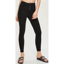 Spodnie z wysokim stanem: Spodnie z wysokim stanem – Czarny