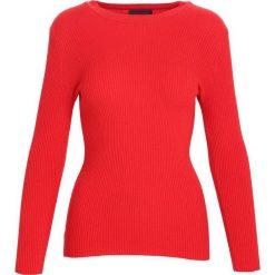 Swetry klasyczne damskie: Czerwony Sweter Reasonableness