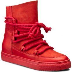 Botki CARINII - B3837 H54-H55-PSK-B67. Czerwone botki damskie skórzane Carinii. W wyprzedaży za 269,00 zł.