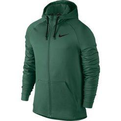 Bluzy męskie: Nike Bluza męska Therma Hoodie FZ zielona r. S (800187 340)