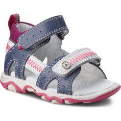 Sandały dziewczęce: Sandały BARTEK – 31824/1NS Niebiesko Biało Różowy