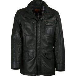Kurtki męskie bomber: Skórzana kurtka w kolorze ciemnozielonym