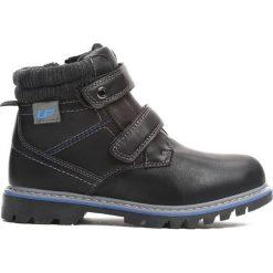 Czarne Traperki Suburbanite. Czarne buty zimowe chłopięce Born2be, z materiału, z okrągłym noskiem, na zamek. Za 69,99 zł.