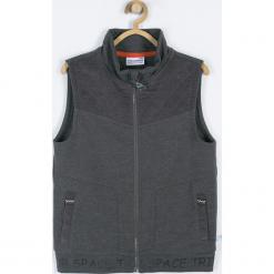 BLUZA. Szare bluzy chłopięce rozpinane marki Cosmic, z aplikacjami, z bawełny. Za 65,90 zł.