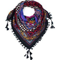 Chusty damskie: Art of Polo Chusta damska Aztec geometry czarno czerwona